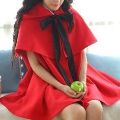 Red/Black [Little Red Hood]Lolita Two-Piece Cloak Coat SP153715 – SpreePicky