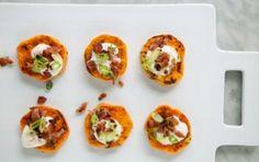 Sweet Potato Bacon Bites // #holiday #appetizer #recipe