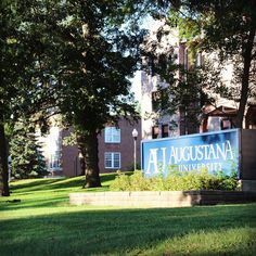 East Hall, Augustana University, in the summer
