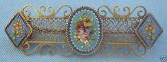 "Victorian 14k Gold Micro Mosaic Bar Pin. Approximately 2.25"" long.   eBay"