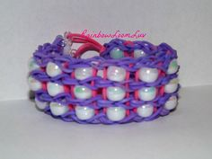 Beaded Rainbow Loom Bracelet