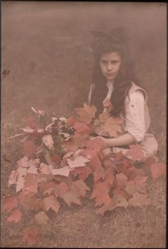 Katherine Stieglitz, daughter of the photographer, Albert Stieglitz  ca.1910 Autochrome