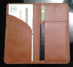 Passport, Drivers license, boarding pass wallet.  Beau Cottrell - Beauvine Leather.