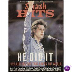 SMASH HITS MUSIC MAGAZINE 17TH JULY LIVE AID ADAM ANT