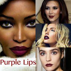 Image from http://3.bp.blogspot.com/-G2sG164rwy0/VD1SQ0ghdZI/AAAAAAAAHmE/xJ5wtsj2trU/s1600/purple-lipstick-fall-makeup-beauty-trends-lipstick-shades-for-dark-skin-dark-purple-lipstick-shades-black-fashion-beauty-blogger%2Bcopy.jpg.
