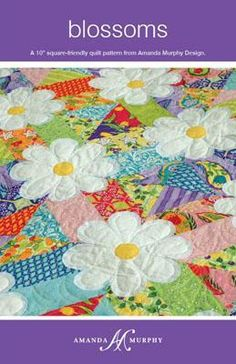 #QuiltingPattern - Make a gorgeous quilt with this Blossoms Pattern by indie designer Amanda Murphy for just $8! The Craftsy Pattern Store is completely free, so all proceeds go directly to the designer! Click the image to get your pattern now and support Indie!