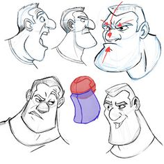 Draw Facial Expression More expressions. I always have a miror at my desk so I can use my own face as reference for expresing emotions. Drawing Cartoon Faces, Cartoon Sketches, Comic Drawing, Cartoon Styles, Cartoon Art, Manga Drawing, Character Sketches, Character Design Animation, Character Design References