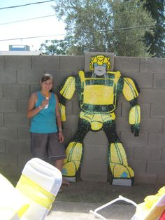 giant 8ft tall Make your Transformers birthday party the most adventurous ever!