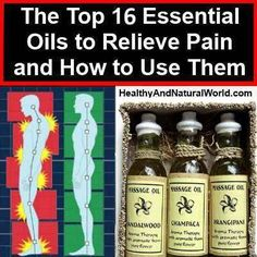 relieve pain with essential oils