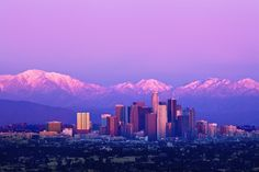 snow-capped by Andy Kennelly on 500px - Snow on the mountains above Los Angeles at sunset.