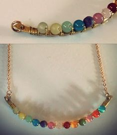Anthropologie look a-like necklace free wire wrap DIY tutorial