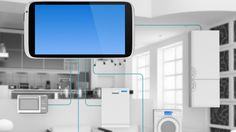 Internet of Things Concept - Home Appliances Connected To Smartphone Mobile News, Mobile App, Home Internet, Concept Home, Digital Trends, Smart Home, Printer, Connection, Foundation