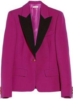 Emilio Pucci Wool and silk-blend blazer on shopstyle.com