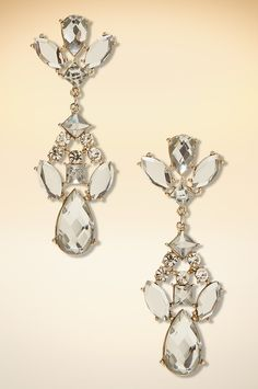 Crystal stone earring #BostonProper #Holiday #Sparkle #Jewels