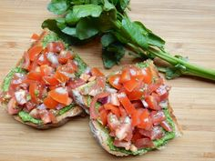 Baking and Cooking Tutorial: 3 recipes: Bread, watercress pesto and pesto and tomato bruschetta.