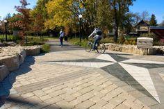 Unilock - Victoria Park in Ontario with Brussels Block & Series 3000 Pavers