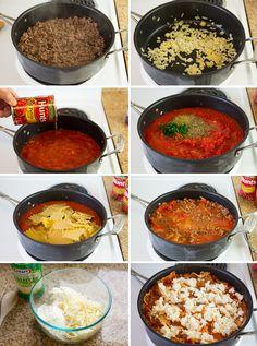 Skillet Lasagna Featuring KRAFT Parmesan and HUNT'S Tomatoes