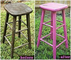 DIY Chalk Paint | Stool Makeover | Make Bake Create Link Party Week 19