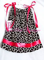 Pillowcase Tie Dress Giraffe Hot Pink 1st Birthday Birthday Outfit, Birthday Dress, TutuPink, Tutu Pink Boutique