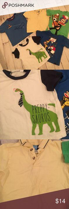 BIG BUNDLE🎉 five boys tshirts! BIG BUNDLE🎉 five boys tshirts! Size 24 months Shirts & Tops Tees - Short Sleeve