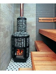 diy home decor for apartments is agreed important for your home. Whether you pick the bathroom remodeling or remodeling bathroom ideas diy, you will create the best diy bathroom remodel ideas for your own life. Sauna Steam Room, Sauna Room, Stove Fireplace, Fireplace Design, Saunas, Homemade Sauna, Diy Sauna, Building A Sauna, Sauna House