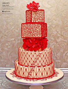Valentino inspired Wedding Cake ~ ♥♥♥♥