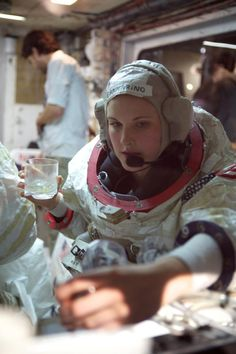 "tomsachs: ""Astronaut Eannarino takes a break after suiting up. Photo credit: Josh White """