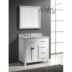 """Virtu Caroline Parkway 36"""" Single Bathroom Vanity Set   Wayfair"""