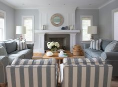 lots of seating in a neutral grey palette, this is beautiful!