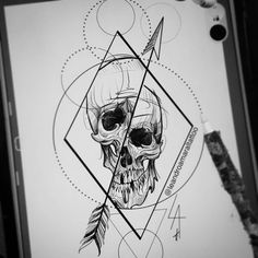Новости Skeleton Drawings, Skeleton Tattoos, Cool Art Drawings, Skull Tattoos, Easy Drawings, Body Art Tattoos, Sleeve Tattoos, Blackwork, Little Tattoos