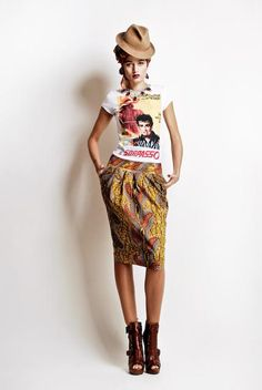 Stella Jean is an Italian based designer of mixed Haitian and Italian lineage...she designs amazing clothes using traditional African fabrics and takes them somewhere different all together...love the styling as well, brilliant accessories