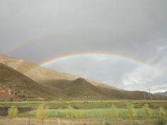 西藏  納木措回拉薩 處處都有彩虹