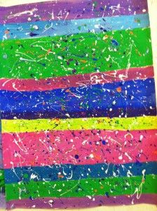 The Stripe and Splatter Lesson. Art History Lessons, Art Lessons For Kids, Art Lessons Elementary, Art For Kids, Project Ideas, Art Projects, Arts Ed, Jackson Pollock, Painting Lessons