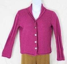 J Jill sweater L size Pink Cotton Cardigan Womens All Season Easy Wear knit
