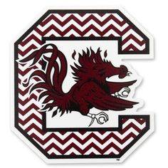 South Carolina Gamecocks Chevron Block C Large Decal