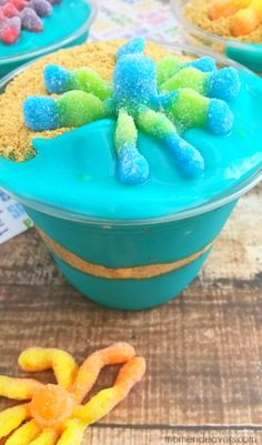 Octopus Beach Dessert Cups