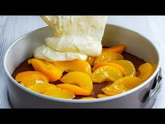 Doar adauga piersici si cea mai buna prajitura e gata! - YouTube Quiche, Scones, Cocoa, Biscuits, Snack Recipes, Chips, Good Things, Fruit, Cake
