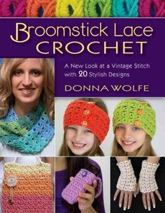 Learn an updated take on the vintage art of broomstick lace with easy-to-follow photo tutorials! Made using a super-huge needle (the broomstick ) and a crochet hook, this technique creates a very dist                                                                                                                                                                                 More