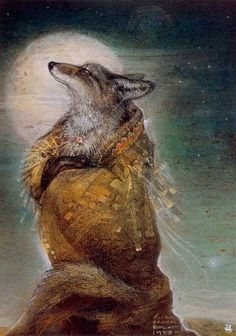 windypoplarsroom: 1988Susan S. Boulet (American; 1941-97) ~ Coyote Dreaming Woman