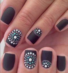 Black with dots