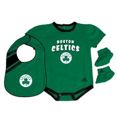 Celtics Infant Girls Bib and Bootie Set