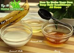 How to get thick hair naturally. banana hair conditioner