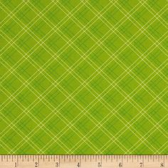 Nursery Fabric: Fabric.com - Cruzin' Plaid Green $7.18