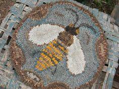 Honey Bee Hooked Chair Pad - Notforgotten Farm