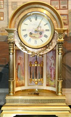 Victorian Brass Pendulum Kello