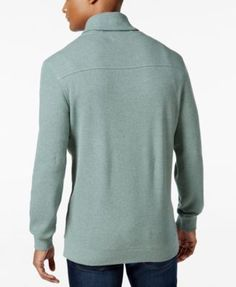 Tasso Elba Men's Textured Shawl-Collar Pullover, Created for Macy's - Brown XXL