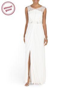 Bridal Sleeveless Beaded Gown - Formal - T.J.Maxx