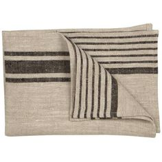 Jayson Home Provence Hand Towel Black/natural By (£17) ❤ liked on Polyvore featuring home, bed & bath, bath, bath towels, bath towels & washcloths, jayson home, linen bath towels, linen hand towels, black wash cloths and black hand towels