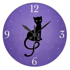 cat clock for my blue & purple office. I actually bought this, it's gorgeous.