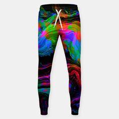 Painted Neon sweatpants by Fimbis   ________________________________ women, men, track pants, keep fit, fitfam, abstract, surreal, fluid art, fluid painting, neon, blue, green, pink, black, vibrant, bright, purple, violet, orange, photoshop,